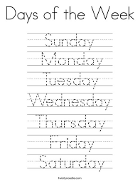 days of the week activities in spanish pictures to pin on