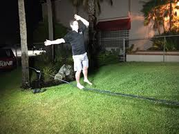 Backyard Slackline Without Trees Tampa Bay Can Be The Percfect Place Ot Learn How To Slackline