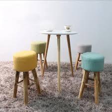 wholesale 100 wood bar stool cotton wooden furniture waiting