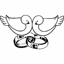 dessin mariage coloriage alliances de mariage a imprimer gratuit
