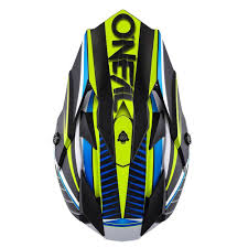 lightweight motocross helmet new oneal 2017 mx 7 series chaser blue black hi viz dirt bike