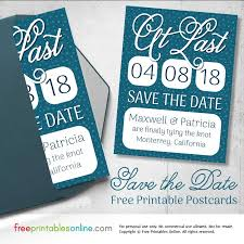 Save The Date Cards Free At Last Printable Save The Date Postcards Free Printables Online