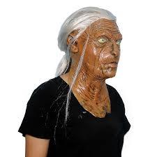 halloween mask scary masks maske deluxe latex old women mask