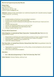sle internship resume mechanical engineering internship resume sle of mechanical