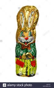 easter chocolate bunny easter chocolate bunny wrapped in original aluminium wrapper on