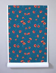 poppy by nathan turner cadet blue wallshoppe