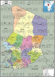 Physical Africa Map by Geoatlas Countries Chad Map City Illustrator Fully