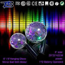 mini disco ball light dj club decorative disco mirror ball with battery motor handheld