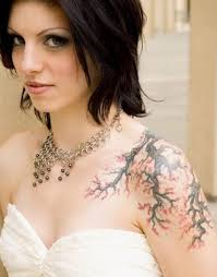 Tattoos On Shoulder For - best cherry blossom tattoos on shoulder for your big day weekly