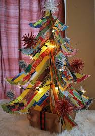 junk mail christmas tree 5 steps with pictures
