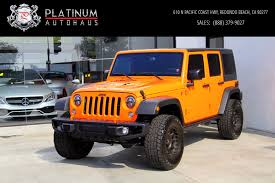orange jeep wrangler unlimited for sale 2016 jeep wrangler unlimited rubicon 4x4 stock 180285 for sale