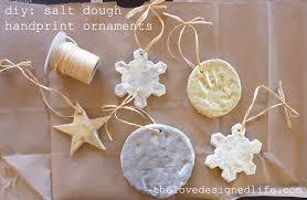 diy salt dough handprint ornaments the designed