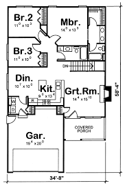 Floor Plans For Narrow Lots by Tharpe Narrow Lot Home Plan 026d 0204 House Plans And More