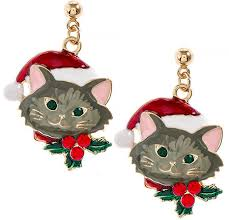 christmas earrings christmas santa accent drop earrings 123stitch
