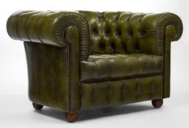 Leather Armchairs Vintage Vintage Chesterfield Green Leather Club Chair Jean Marc Fray