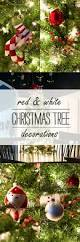 Christmas Tree Ideas 2015 Red Red U0026 White Christmas Tree Decor