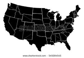 illustrator usa map outline 2 united states map vector free vector stock