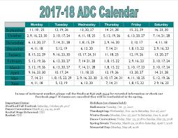 calendar adagio center