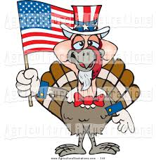 Thanksgiving Flags Agriculture Clipart Of A Cute Patriotic Uncle Sam Turkey Waving An