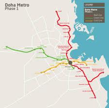 Doha Map Tunneling Complete On Doha Metro U0027s Green Line Tunnel Business