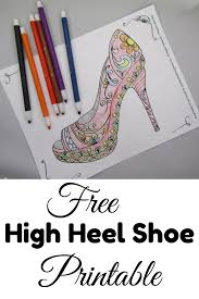 free printable high heel shoe coloring page shoeaholics