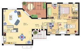 plan maison moderne 5 chambres maison en bois d architecte plans maisons con maison moderne 5
