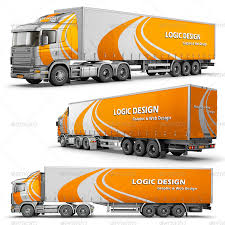 semi trailer truck semi trailer truck mock up by logic design graphicriver