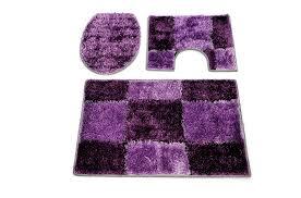 lovely fine purple bathroom rug sets black blue green pink 3 piece