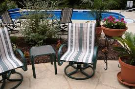 Sling Outdoor Chairs Sling Replacements For Telescope Patio Pool Furniture With Our New