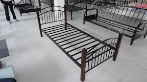 Iron Single Bed Frame Metal And Wooden Frame Single Bed China Mainland Beds