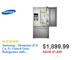 black friday appliance deals at best buy samsung showcase 27 8 cu ft french door refrigerator with thru