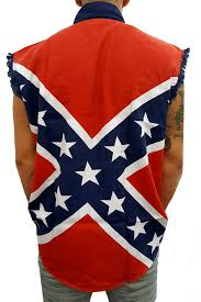 Cool Confederate Flag Pics Confederate Rebel Flag Pattern Sleeveless Button Up Shirt