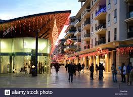 aix en provence allées provencales shopping centre at dusk aix en provence