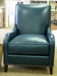 Blue Leather Chair Furniture Agreeable Living Room Decoration Ideas Using Studded