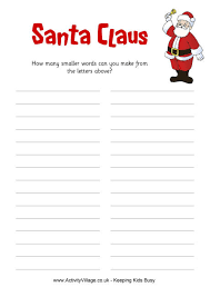 santa claus how many words puzzle