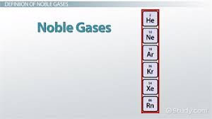 gases on the periodic table noble gases definition list properties video lesson