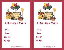 birthday invitation maker online free printable invitations