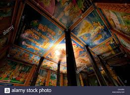 painted ceilings at the pagoda thmey angkor wat this church is
