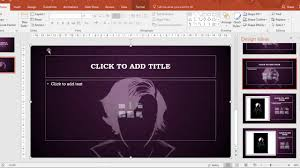design ideas in powerpoint 2016 youtube