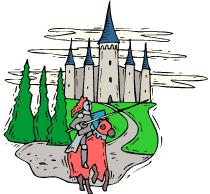 coloriage chevalier et chateau coloriage en ligne et à imprimer