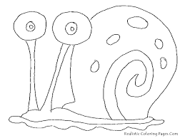 spongebob and gary coloring page free printable online spongebob