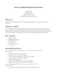 marketing resume summary of qualifications exle for resume marketing resume objective statements