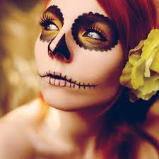 sugar skull pretty make up tattoos piercings general rad