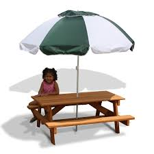 wooden childrens picnic table gorilla childrens picnic table and umbrella walmart com