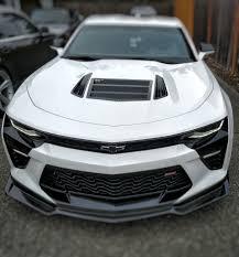 camaro zl1 carbon fiber insert composites carbon fiber front lip installed on 2016
