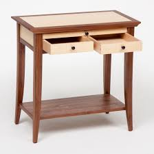 Arts And Crafts Nightstand Curly Ash And Walnut Bedroom Set Ct Fine Furniture By Craig