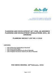 dún laoghaire rathdown planning weekly list no 8 2016 by
