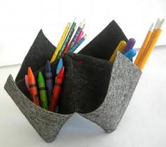 Small Desk Organizer by Quack Felted Wool Origami Inspired Small By Boujiandnouna On Zibbet