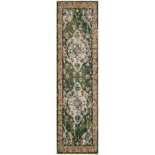safavieh monaco forest green light blue 8 ft x 10 ft area rug