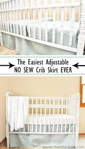 Pottery Barn Ruffle Crib Skirt Babies Crib Skirts